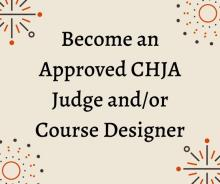 Design Courses or Judge for CHJA Horse Shows